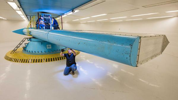 Sandia National Laboratories recently completed the renovation of five large-scale test facilities, including this centrifuge,