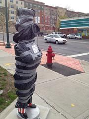This is one of 30 statues decorated for the inaugural Uncle Sam Public Art Project in downtown Troy, NY.