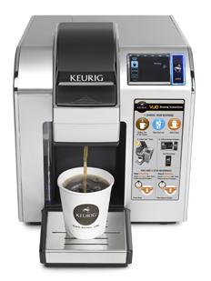 The Keurig Vue coffee maker includes RFID technology designed to keep you from messing up when you're brewing coffee at work.