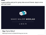 UberX started operating in Orlando at noon today. Initially the app is free to users.