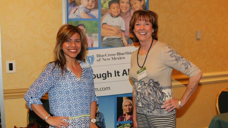 Consuelo Bolagh-Cowder and Becky Kenny with Blue Cross & Blue Shield of NM (Randy Siner | Albuquerque Business First)