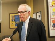 Donald Cox, attorney for Kosair Charities, answered questions at today's news conference.