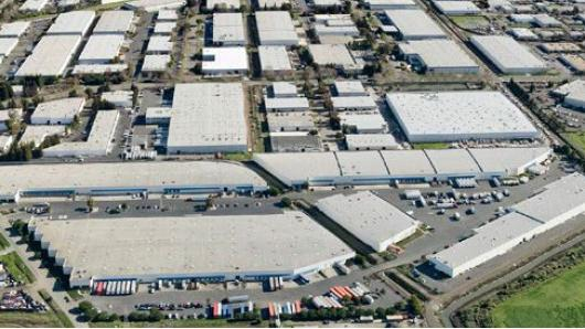 An aerial view of Winton Industrial Center in Hayward.