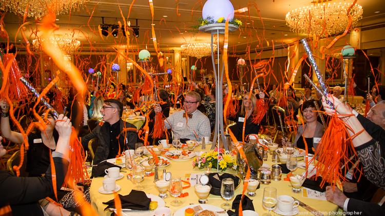 Guests celebrate at the Milwaukee Business Journal's Eureka awards.