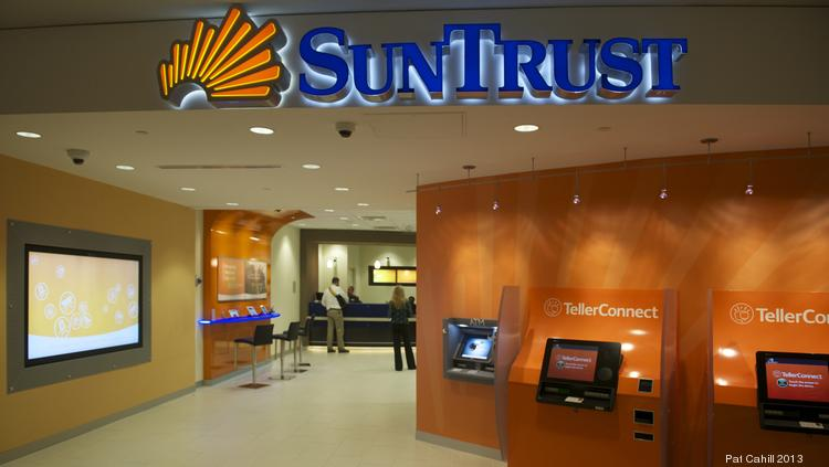 Atlanta-based SunTrust (NYSE:STI) has $1.4 billion in deposits in the Charlotte metro area, making it the local market's fifth-largest bank.