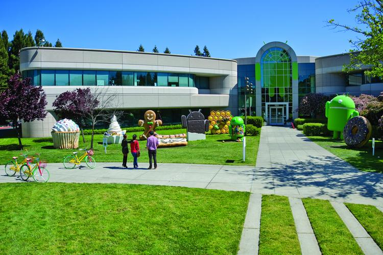 Food is a big part of Google's culture. And in case that wasn't clear, its lawn ornaments pay tribute to Google's snack-themed Android products.