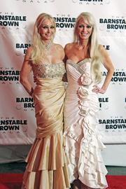 """Hostess Tricia Barnstable Brown said she is glad to have Upper Crust returning as the caterer of the Barnstable Brown Gala, succeeding Ladyfingers Catering. Upper Crust catered the first gala 25 years ago. """"Part of the evening is serving delicious food, and we're very excited that Upper Crust will be serving fantastic food,"""" Brown said. """"They are great people."""" The gala has raised more than $10 million for diabetes research, Brown said. About $9 million of that amount has been contributed to the Barnstable Brown Center at the University of Kentucky. Brown, at right in the photo above, and her twin sister, Cybil Barnstable, left, were cheerleaders at UK."""