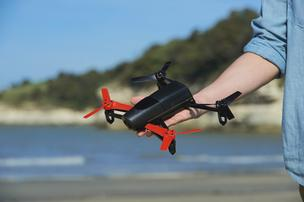The Bebop drone is small enough to be held in one hand.