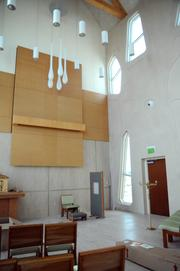 The main room of the chapel will host services with a video feed for patients who are unable to attend in person.