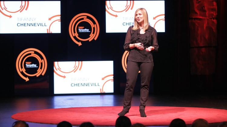 Psychologist Tiffany Chenneville presents at TEDx earlier this year.