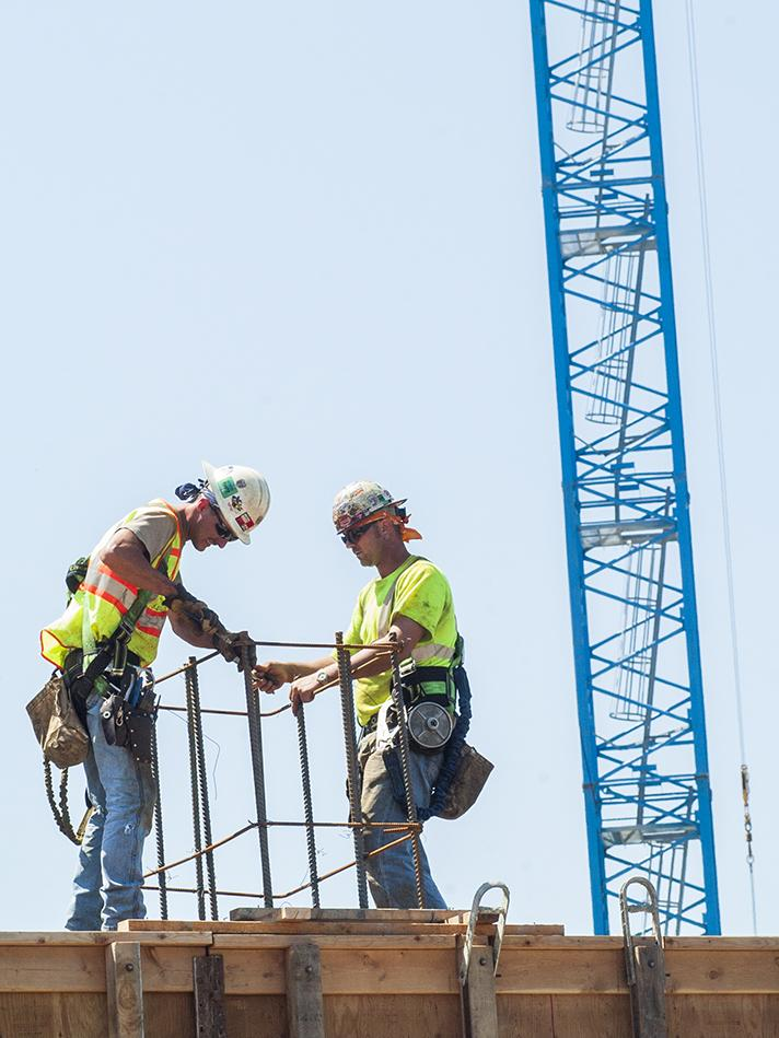 Construction employment figures continued to improve in April.