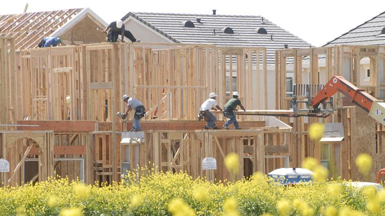 A 2008 moratorium on building in the Natomas area could be lifted by the end of the year. This is the scene of home construction in 2008, just before the ban.