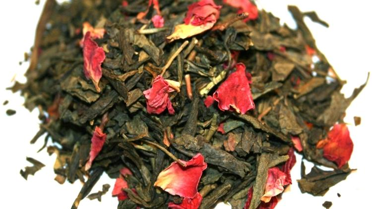 Former VC consultant Andrea Archuleta has been going through a crash course in tea for Delicious Sip, her new wholesale and retail tea company. Pictured is organic Kyoto Cherry Rose.