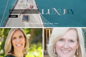 Monica Kirchner, bottom left, and Kirsten Hansen co-founded Dot Luxury, where luxury brands can buy new domain names that end in
