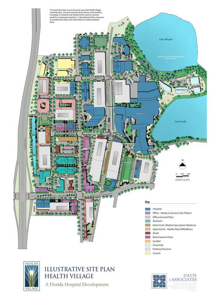 A rendering of what's to come in Florida Hospital's 172-acre Health Village project.