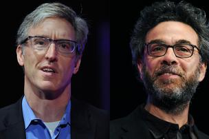 "Steven Levitt, professor of economics at the University of Chicago, left and Stephen Dubner, journalist, are co-authors of the bestselling book Freakonomics and are out with a new book called ""Think Like a Freak. "" Here, they appear at the World Business Forum in October 2013."