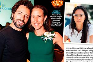 People did a retraction on this article after it  ran a picture of Nathalie De Clercq, far right, identifying her as the mistress who led to the split between Sergey Brin, left, and wife Anne Wojcicki.