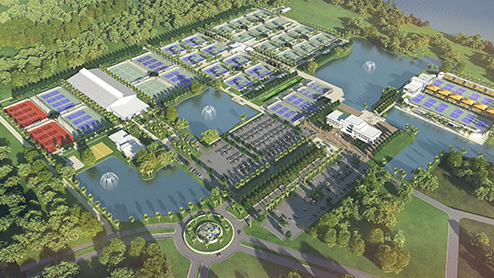 The new $60 million U.S. Tennis Association's regional training complex will span 63 acres and include 106 tennis courts for professional and recreational use.