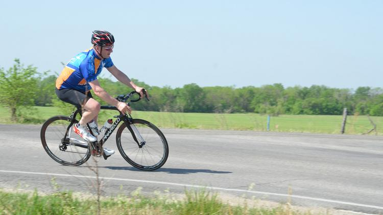 Spirit AeroSystems President & CEO Larry Lawson rides in the Tour de Cure, a bicycle race raising money for the American Diabetes Association. The Wichita Tour de Cure raised more than $262,000 for the ADA, Spirit employees raised more than $58,000.