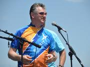 Spirit AeroSystems President and CEO Larry Lawson speaks at Tour de Cure, a bicycle race raising money for the American Diabetes Association.