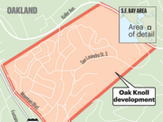 Oak Knoll is the site of a former naval hospital slated for redevelopment into housing.