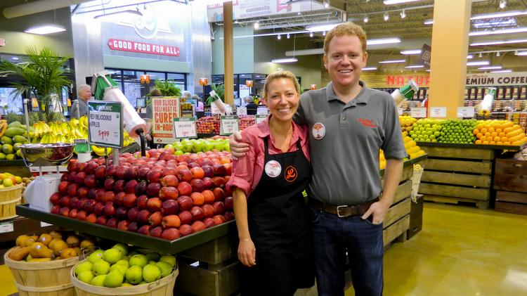 Trish Sharon and her husband, Bo Sharon, own Colorado-based Lucky's Market LLC. The new store in Kentucky is the company's sixth location.