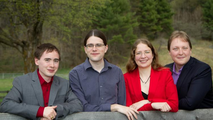 Luminoso co-founders, from left to right: Jason Alonso, Rob Speer, Catherine Havasi and Dennis Clark.