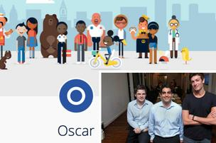 Oscar, based in New York City, was started by Kevin Nazemi, left, Mario Schlosser, and Josh Kushner.