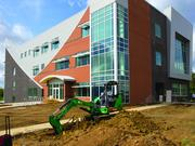 Construction of GTCC's third aviation building is nearing completion.