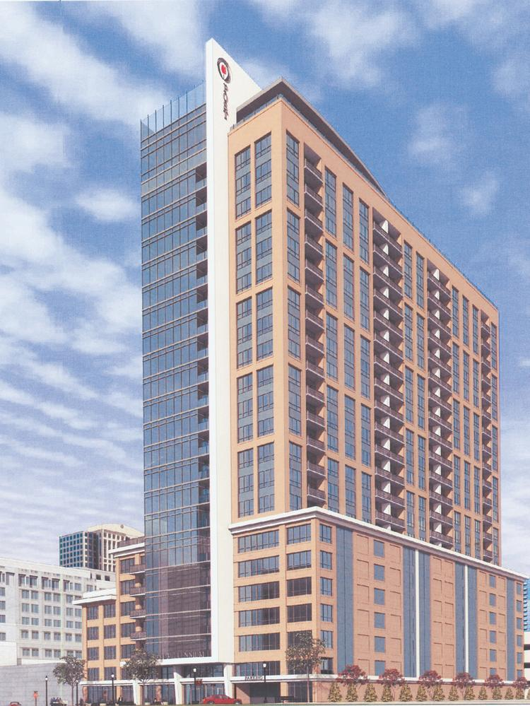 The 23-story Post Millennium would be built at 11th Street and Peachtree Walk.