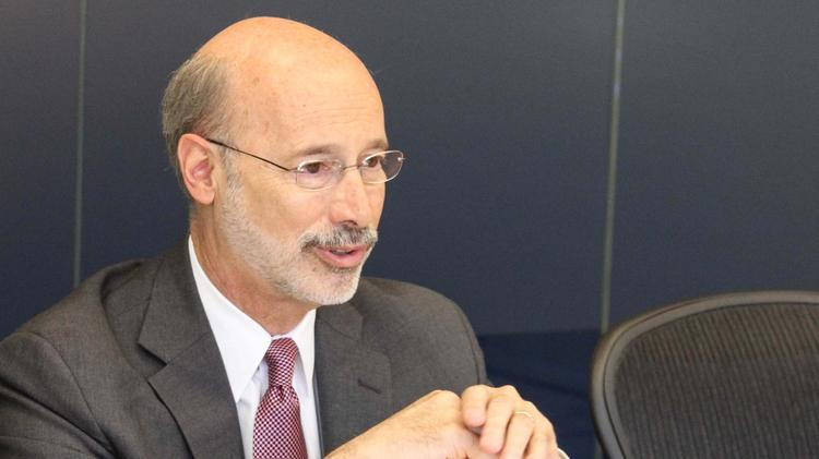 Tom Wolf, Democratic nominee for Pennsylvania governor, visited the Philadelphia Business Journal offices in May.