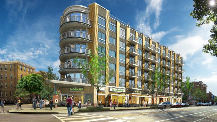 The Peterson Cos. has broken ground on an 80-unit condo redevelopment of the former Ontario Theater at 17th Street and Columbia Road NW in Adams Morgan.