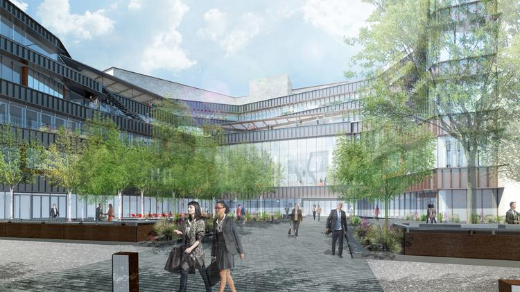 The University of Texas has made final approvals to begin construction this fall of Robert B. Rowling Hall, shown in this rendering. The $172 million building will house programs for the McCombs School of Business.