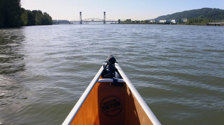 Casting off from Cathedral Park under the St. Johns Bridge. It looks pristine on the surface, but I'm about to learn otherwise from my Superfund tour guide Travis Williams, head of the Willamette Riverkeeper. Click through for more images of Superfund sites, both dirty and rehabilitated, along the Willamette River.