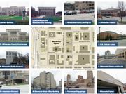 DOWNTOWN BOOST: The area bounded by West Wells, North Fourth, West State and North Ninth streets could serve as a redevelopment zone around a new downtown arena. Possible sites for projects include MacArthur Square, which is surrounded by the Safety Building, Police Administration Building, Milwaukee County Courthouse and Milwaukee Public Museum.