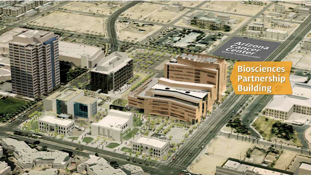 The Biosciences Partnership Building will employ 360 people in downtown Phoenix.