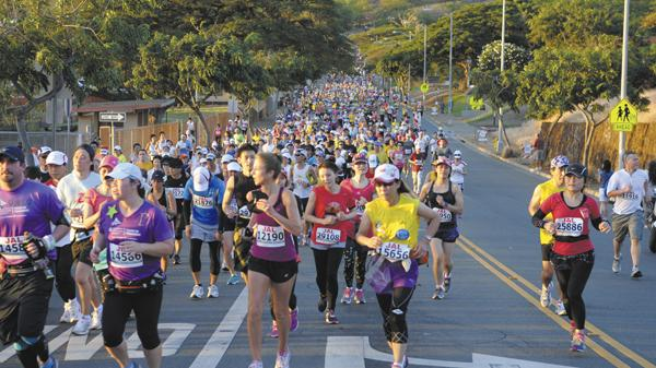 Visitors from Japan account for more than 40 percent of the runners in the annual Honolulu Marathon.