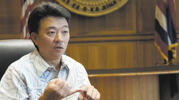 Lt. Gov. Shan Tsutsui is working on lifting restrictions on land around Aloha Stadium.