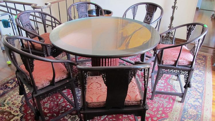 A table once owned by hair-care mogul Paul Mitchell is one of the items for sale at a May 24 auction in Honolulu being conducted by Oahu Auctions.