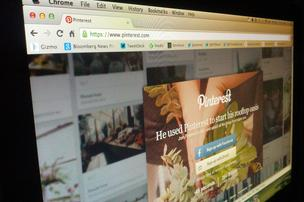 Pinterest sign-up screen