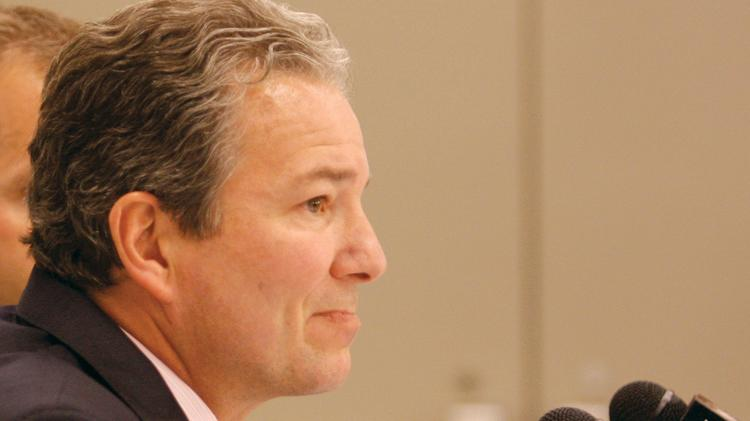 Ray Shero, who was removed as general manager of the Pittsburgh Penguins on Friday, at a 2012 news conference with Penguins star Sidney Crosby. The Washington Capitals may want to hire Shero, according to the Washington Post.
