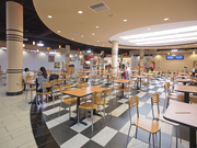 A food court at Vallco Shopping Mall offers several choices, but there were not many diners on a recent Thursday.