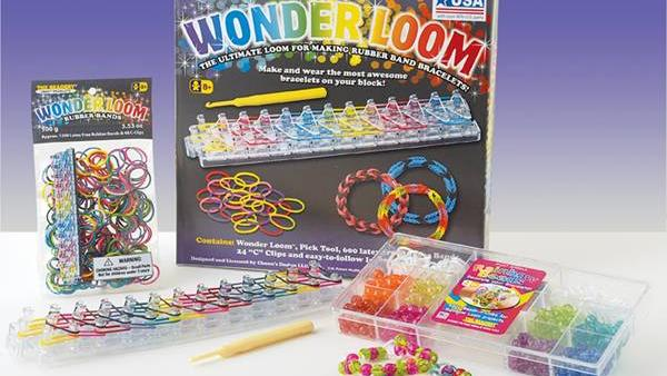 The Wonder Loom toy that's made in New England and sold in Wal-Mart stores.