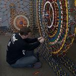 The 7-foot-tall, 48,000-piece K'NEX display at PHL airport