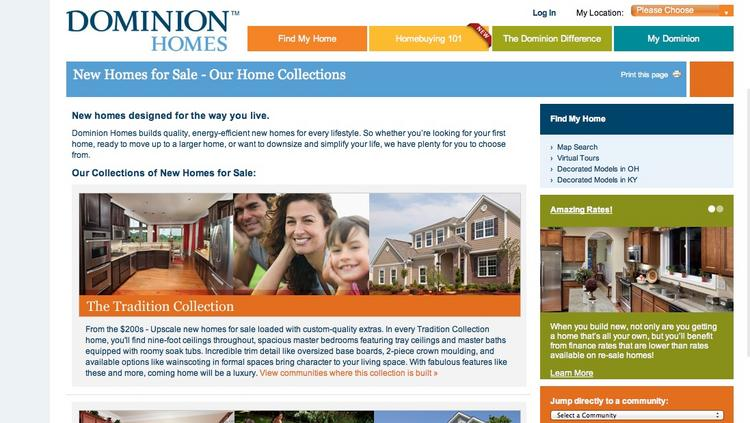 Dominion Homes will offer a pricier version of its Tradition Collection in the new subdivision.