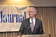 Shelby County Mayor Mark Luttrell opened the event with a few words.