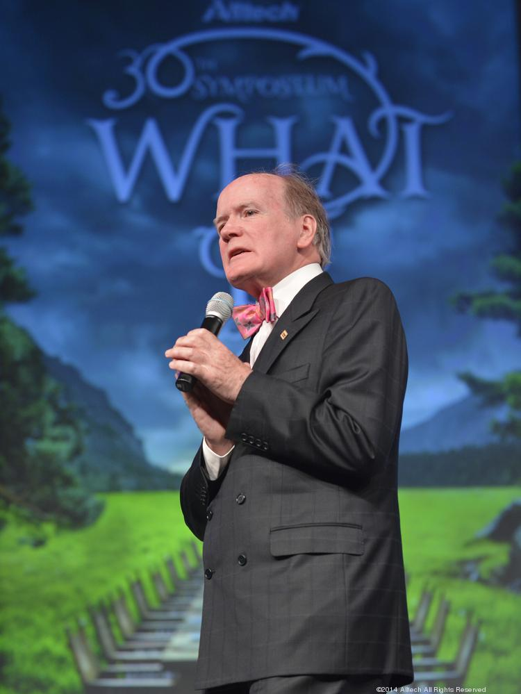Alltech founder and president Dr. Pearse Lyons made a presentation during the Alltech 30th Annual International Symposium in Lexington, Ky.