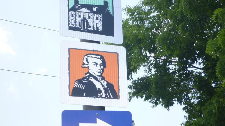 The Fayetteville Area Convention and Visitors Bureau has posted new signs – which consist of pictures only – on nine of its 18 driving trails.