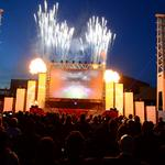 Fireworks, 3-D film part of Falcons stadium groundbreaking (SLIDESHOW)