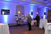 Displays for all the Building Memphis honorees were on display.